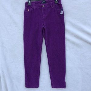 Ralph Lauren purple girl pants 👖 size 14 new